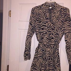 Cheetah print trench coat! Like new